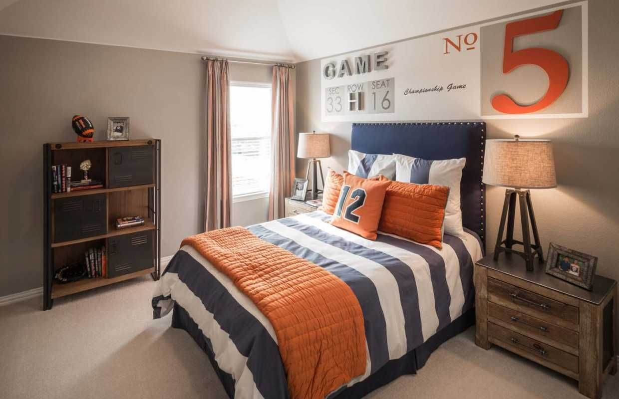 A sports-themed kids room with an antique vibe images