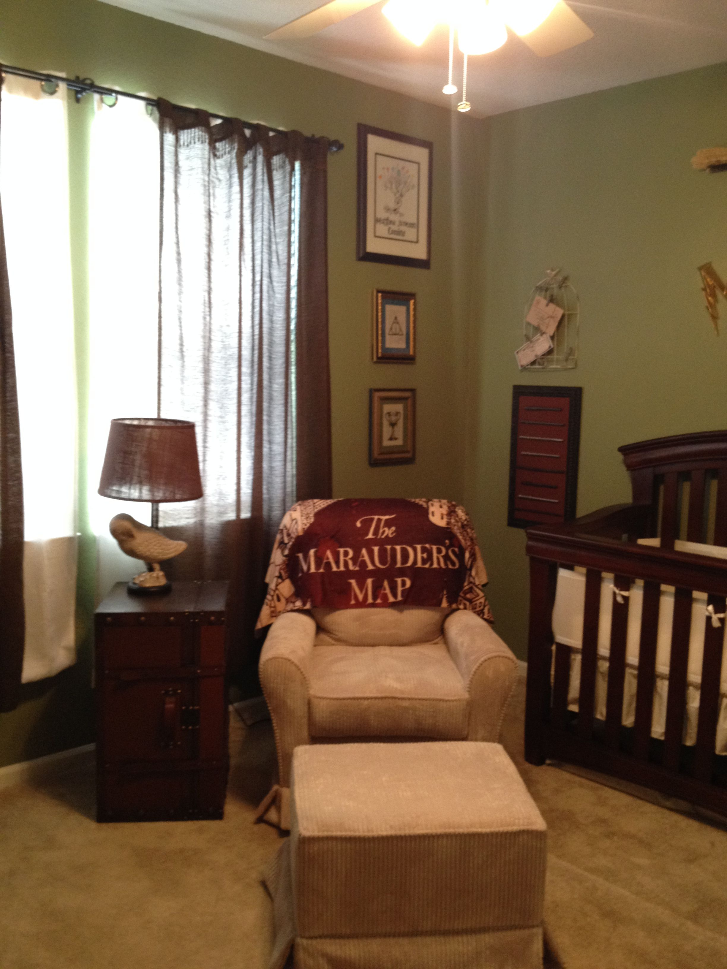 Custom harry potter nursery i made for my son matthew for Room decor harry potter