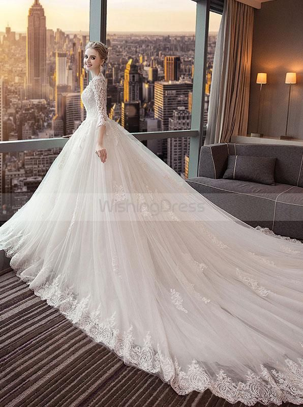 Wedding Dresses with Long Trains