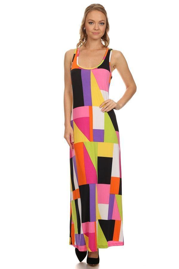 Maxi Summer Bright Print Dress
