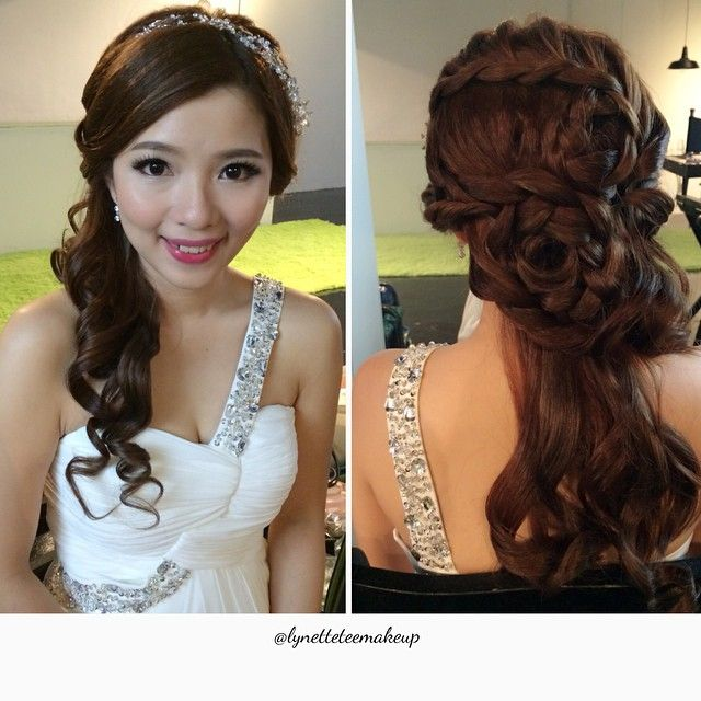 wedding dinner hair style wedding dinner make up amp hairdo pretty of the day 8360