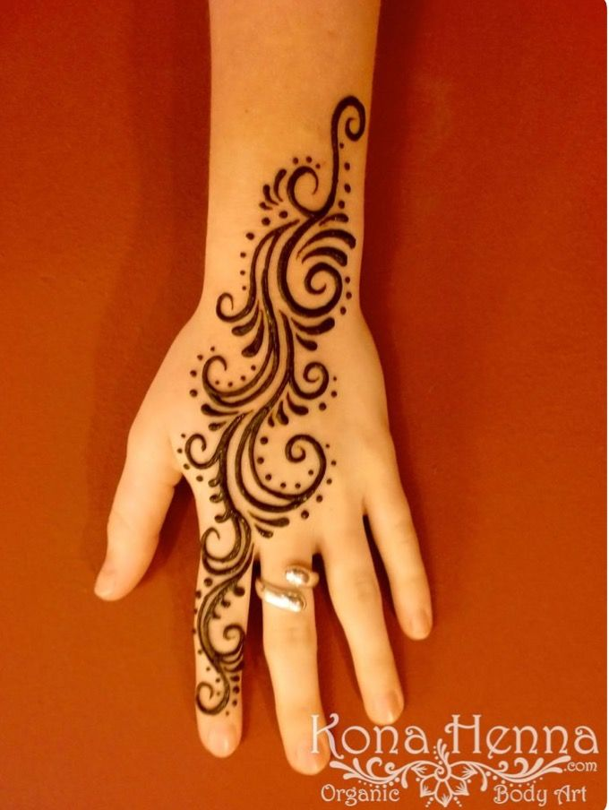 Hand Cute Henna Tattoo Designs