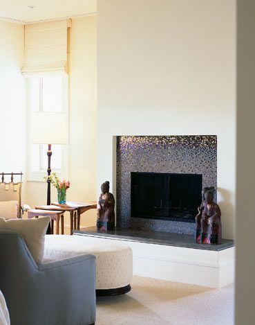 great solution for raised hearth. Smart for renovations with raised ...