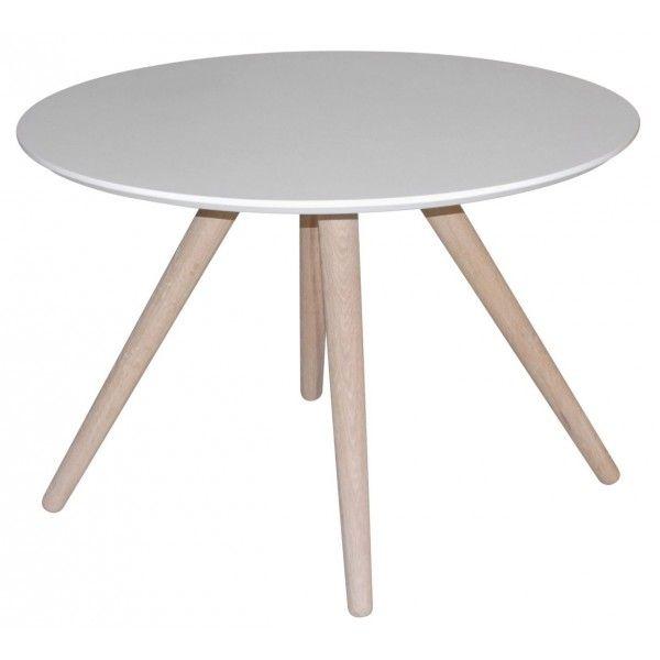 24Designs ronde tafel Roxanne diam 90 Wit   Woonkamer   Pinterest   School design