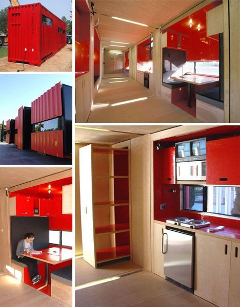 40 foot container into stylish small home spaces - 40ft shipping container home ...