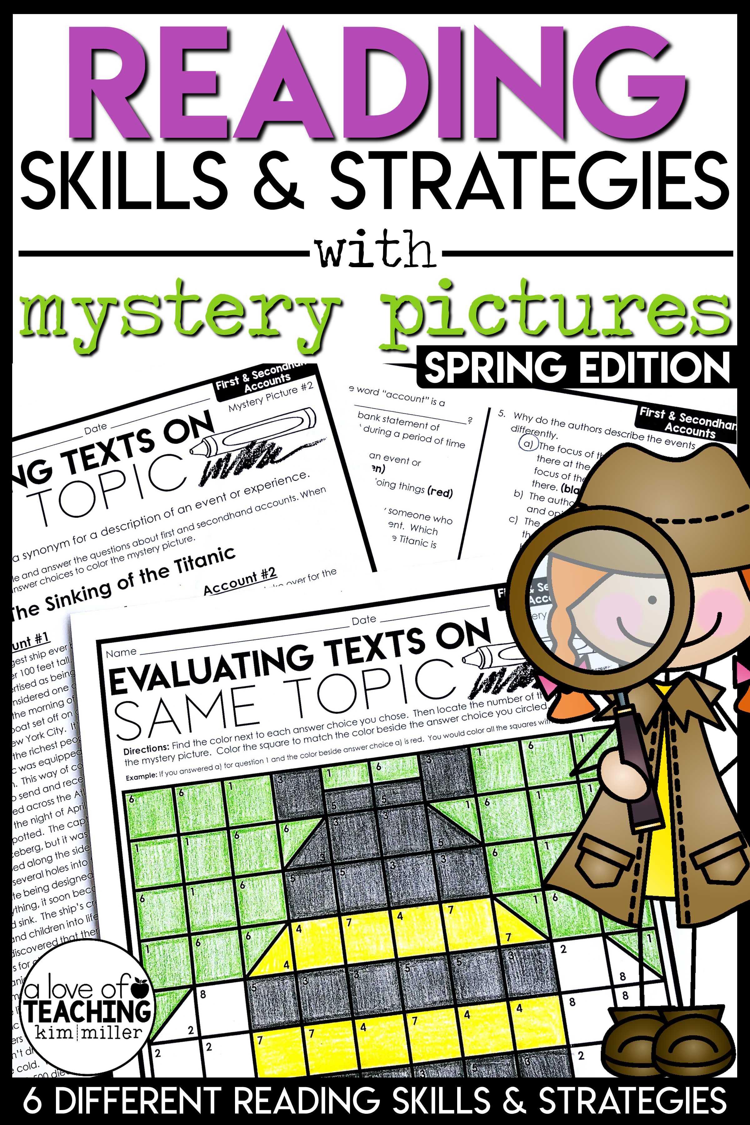 Reading Strategies Spring Mystery Pictures Text Structure