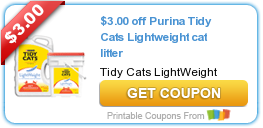graphic regarding Tidy Cat Printable 3.00 Coupon referred to as $3.00 off Purina Tidy Cats Light-weight cat clutter Coupon codes