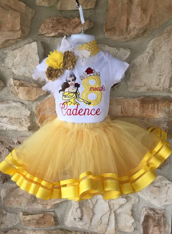 12a90e60c Birthday Theme Shirt Belle Beauty and the Beast Disney Princess Tutu Set
