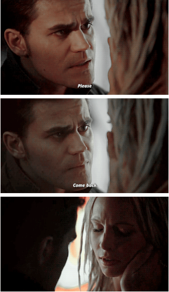 """Steroline! I really wish he'd said """"Come back to me,"""" instead of just """"Come back,"""" but it was still beautiful."""