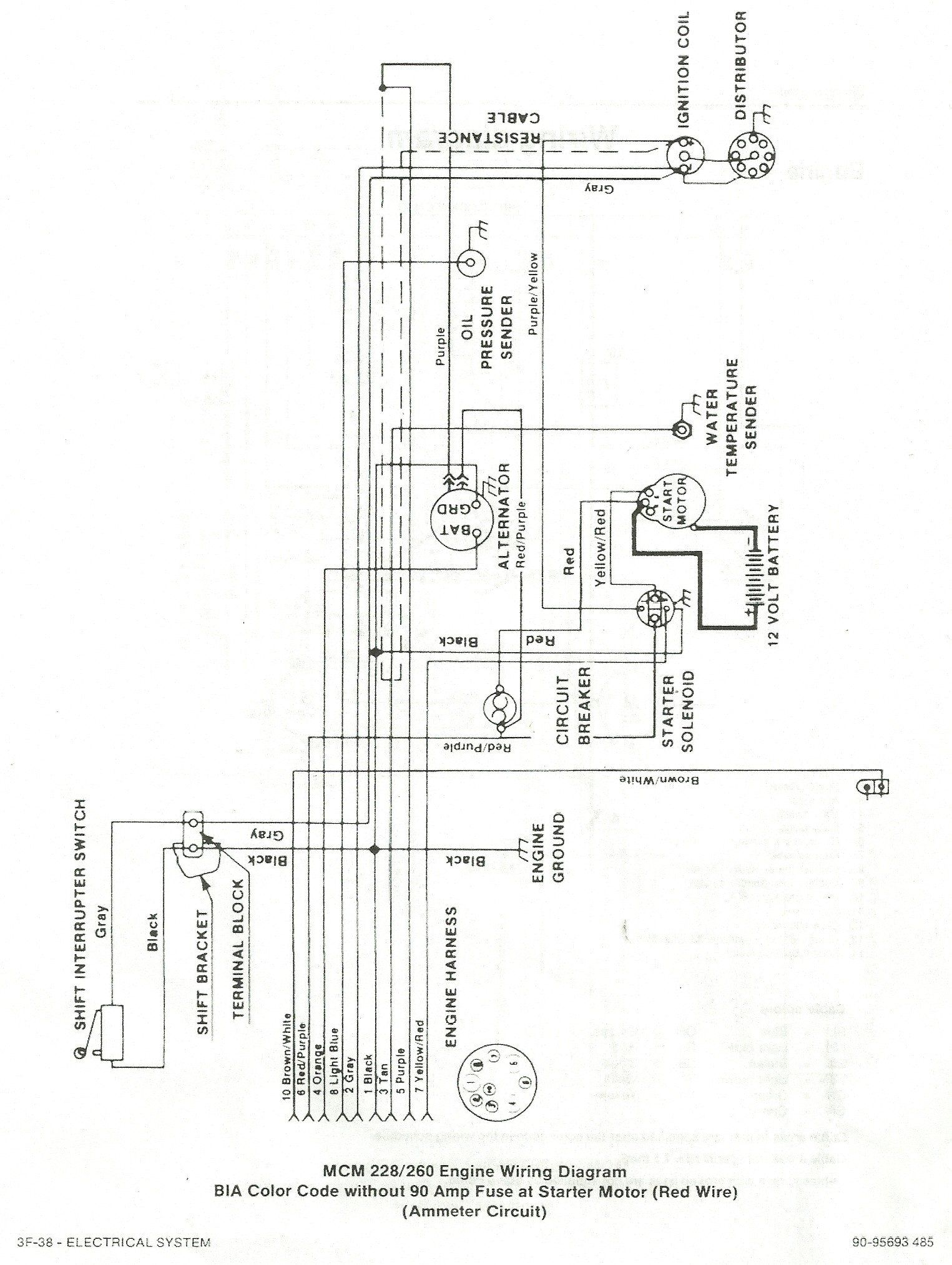 mercruiser electrical diagram wiring diagram write Mercruiser Trim Sensor Wiring Diagram