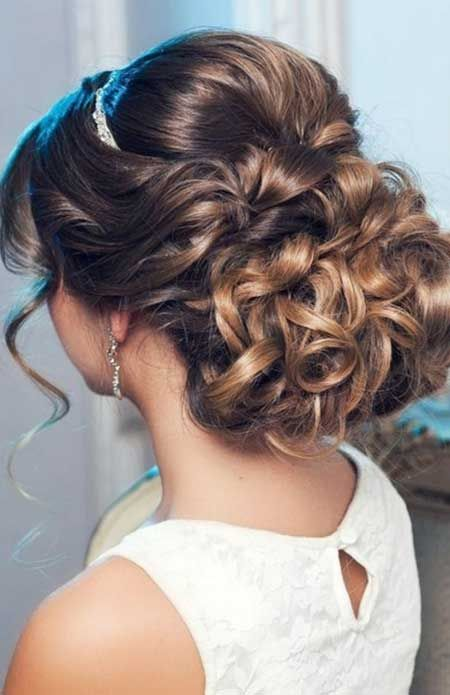 Elegantly Tied Up Bun With Bouncy Top Wedding Hairstyles Wedding