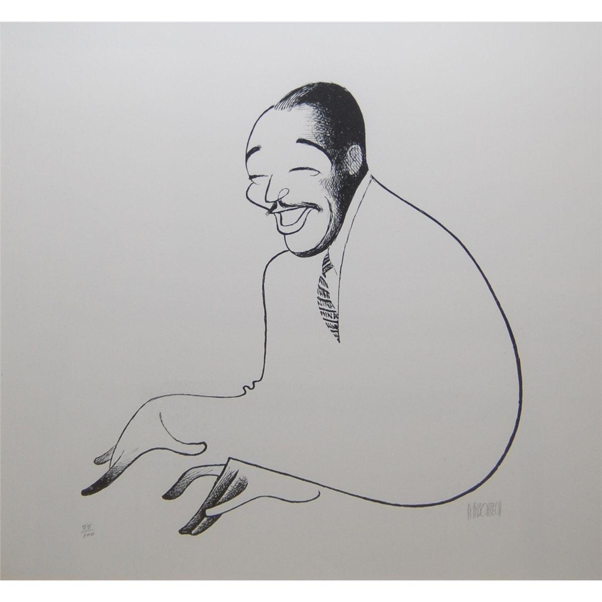 Duke Ellington Caricature Artist Caricature Black And White Portraits