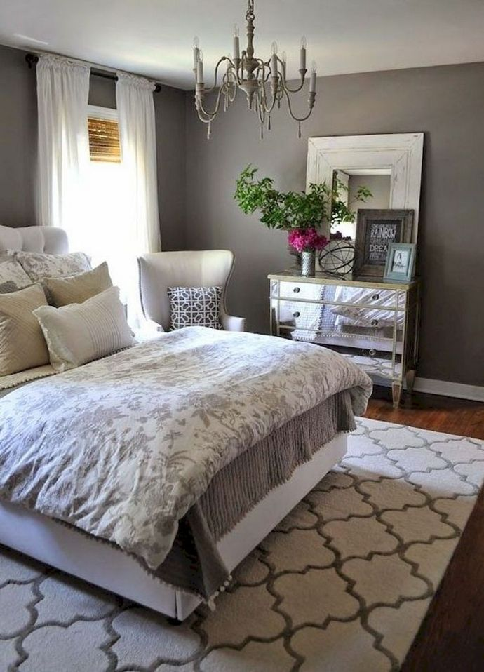↗️ 93 Cozy Small Master Bedroom Decorating Ideas Make The Room Look Larger Than It Actually I... #masterbedroompaintcolors