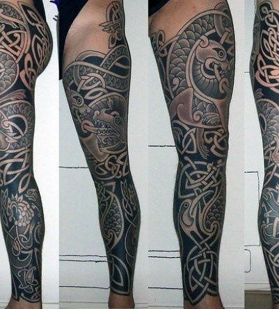 40 celtic sleeve tattoo designs for men manly ink ideas. Black Bedroom Furniture Sets. Home Design Ideas