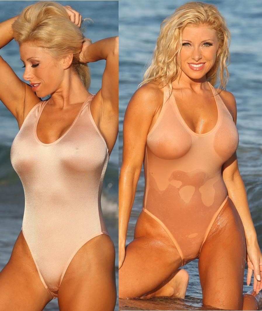 See through bathing suits when wet