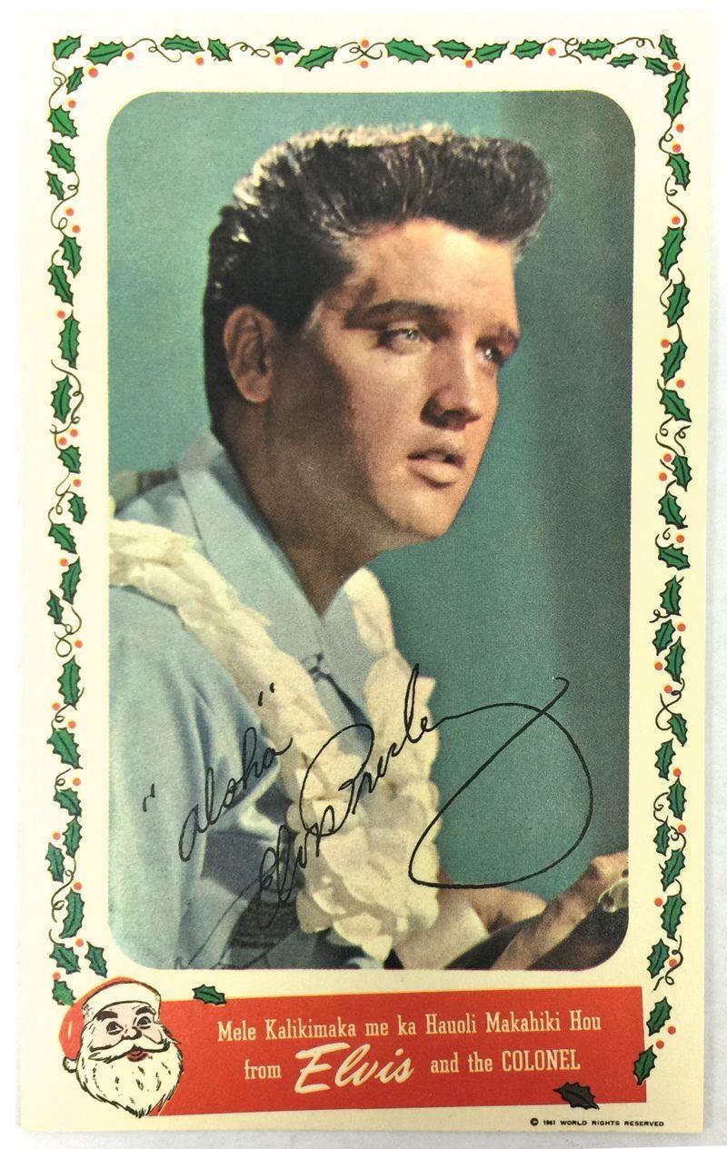 Elvis Christmas card from 1961   Elvis Is Everywhere (1) in 2018 ...