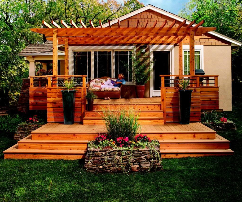 Charming Deck Design Front Of House Part - 5: House · Cool Deck Design Ideas
