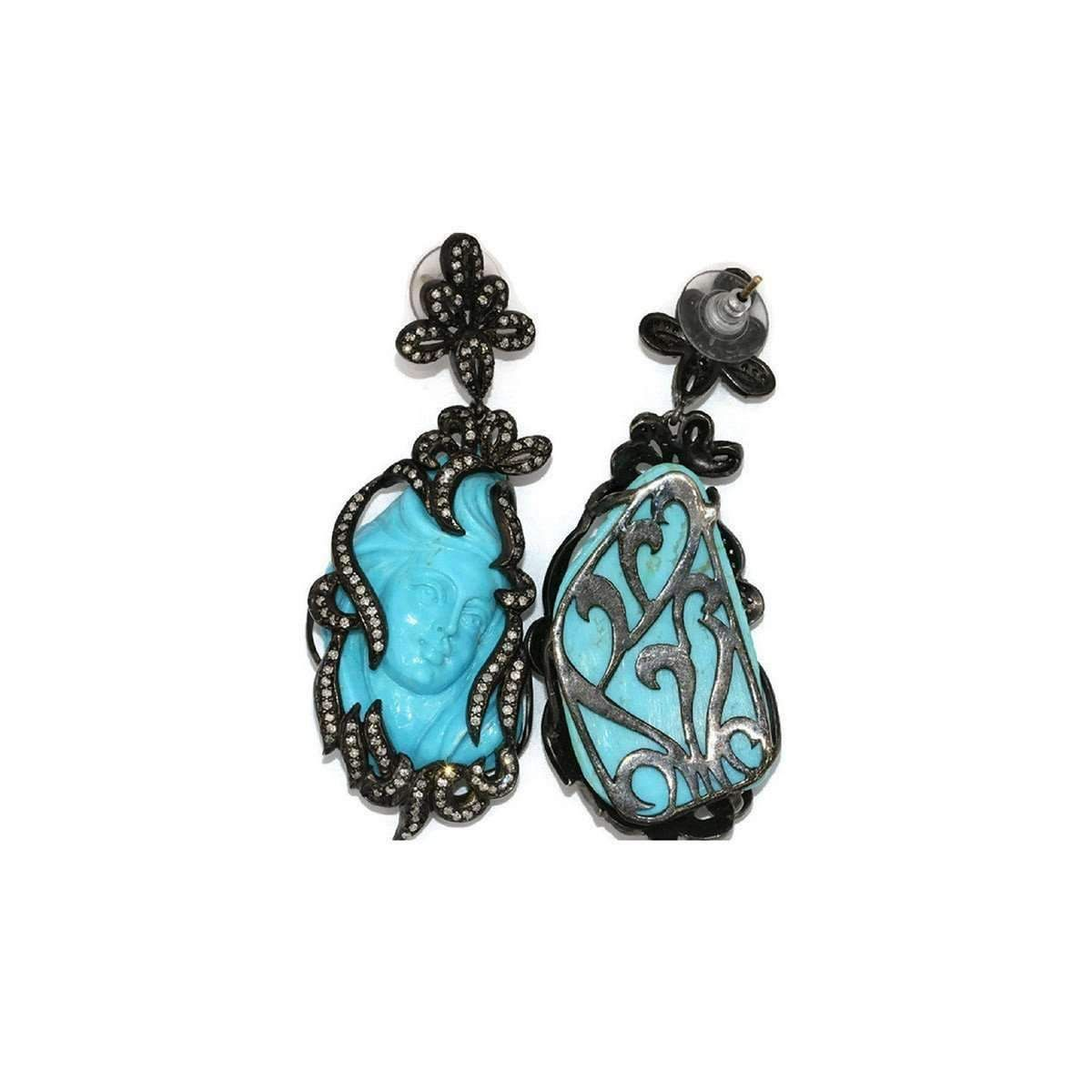 True Art Handmade With Love And Craft These Graceful Designer Earrings Include Natural Diamonds
