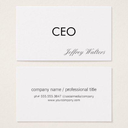 Ceo professional business card colourmoves