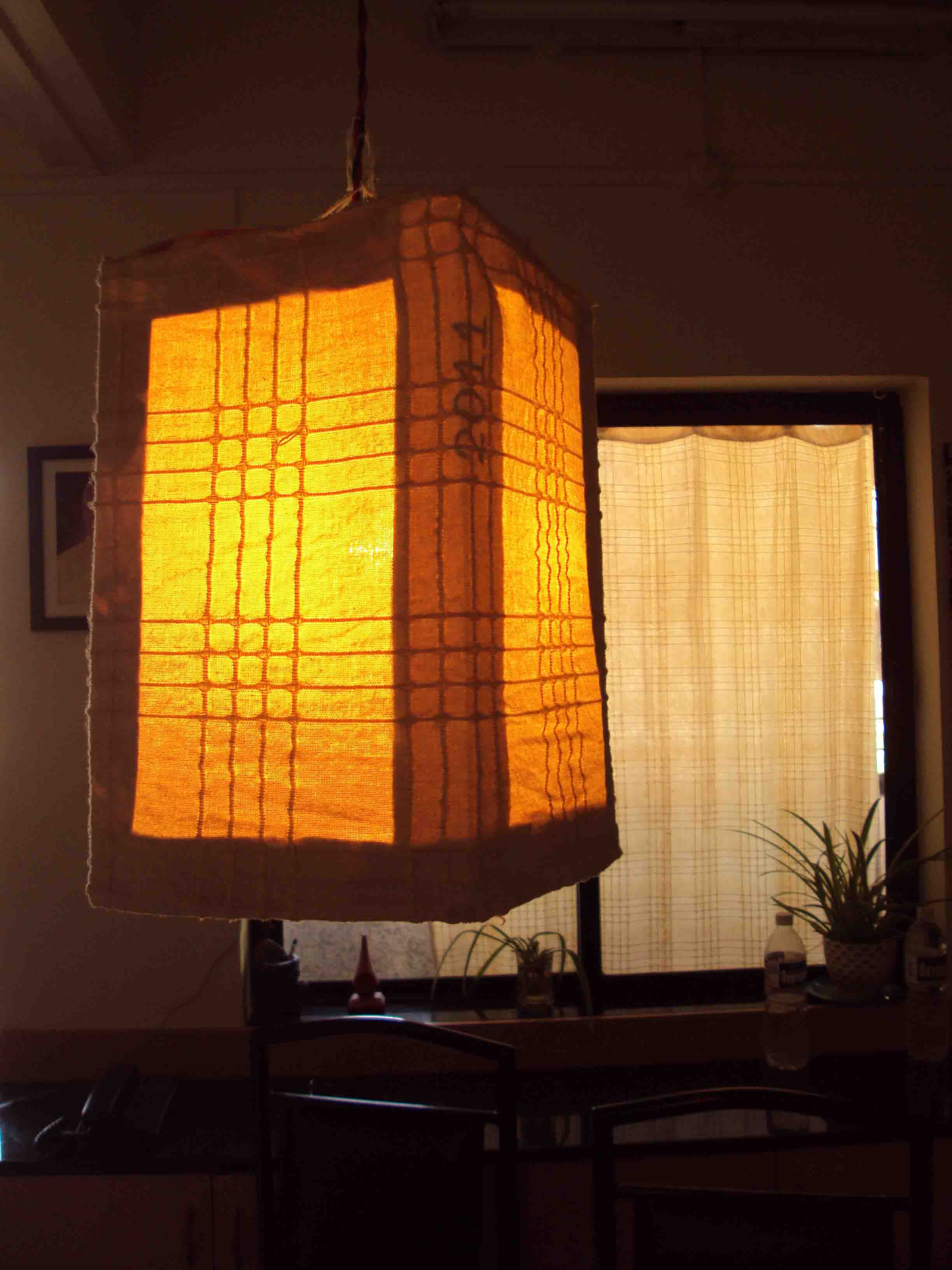 Homemade Lamp Shade From Scrap Fabric