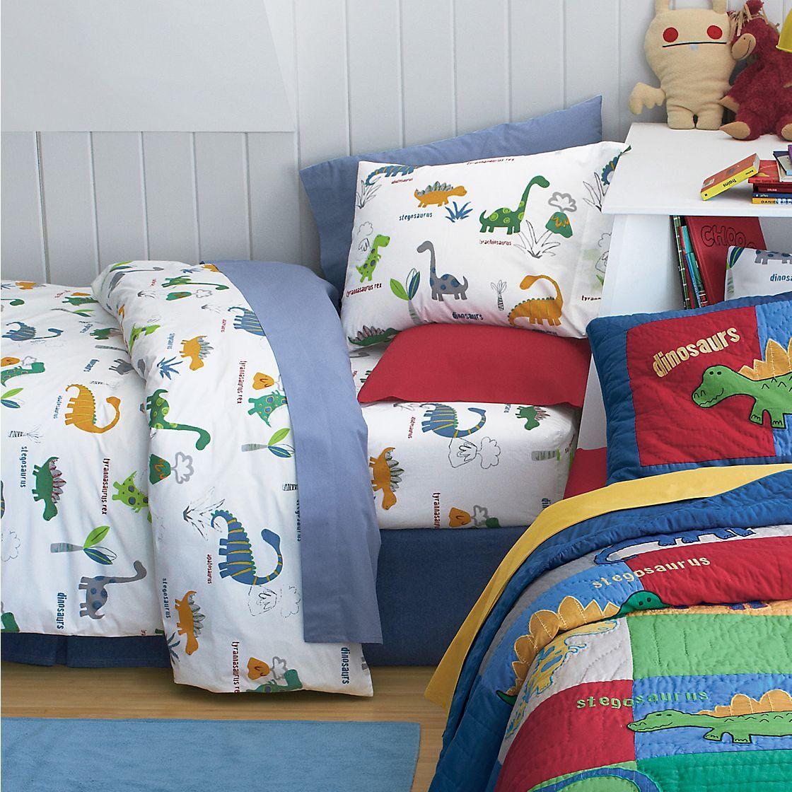 Boys dinosaur bedroom ideas companystore for Dinosaur bedroom ideas boys