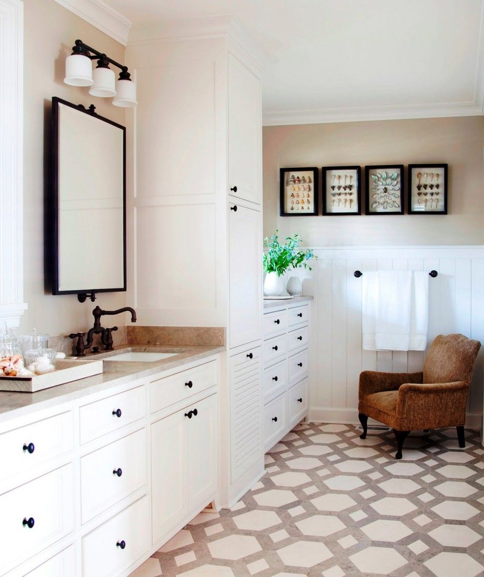 How to create a home improvement with stone floor pattern ...