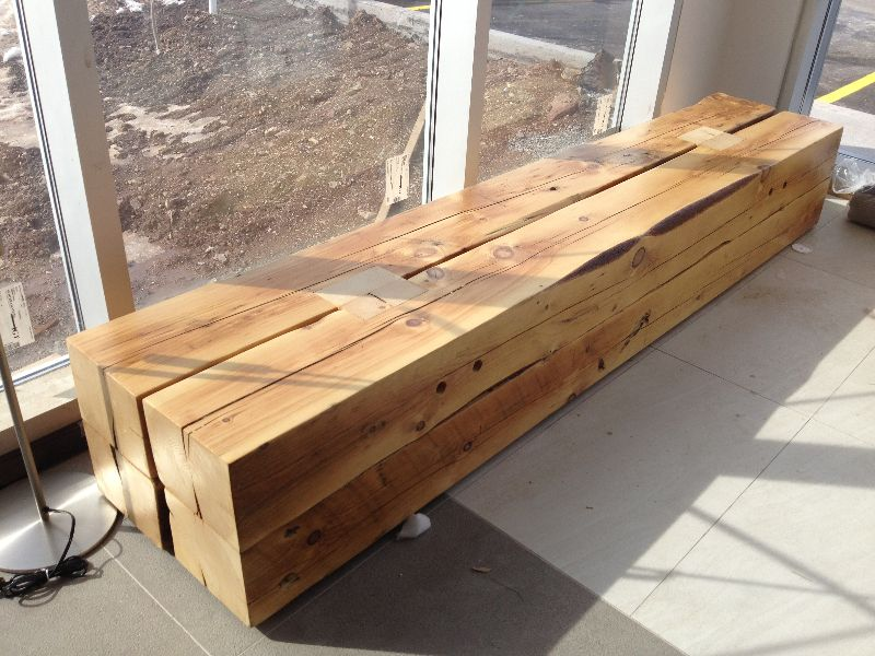Foyer Table Toronto : Beam bench « discreet and discrete farm house