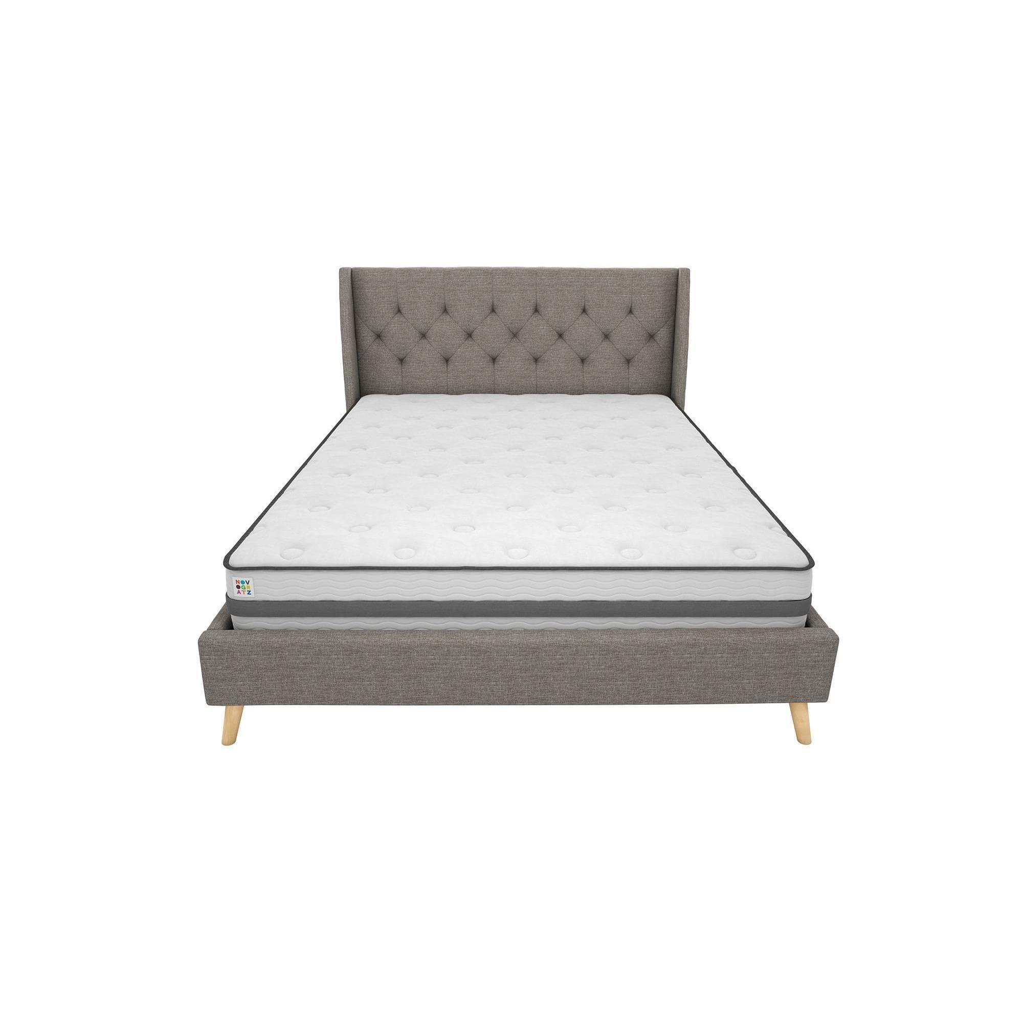novogratz her majesty queen linen bed grey linen linen bedding