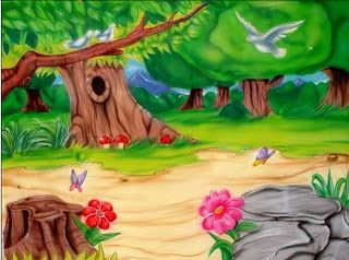 dibujos coloreados de paisajes y dibujos para imprimir
