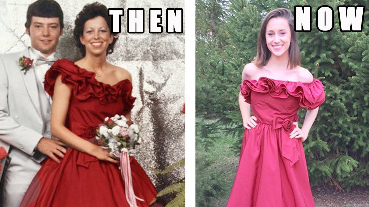 teenagers who wore their momsu prom dresses decades later