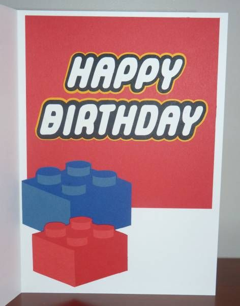 image relating to Lego Birthday Card Printable identified as LEGO birthday card Lego Routines Lego birthday playing cards