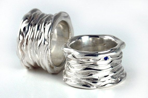 38a630ff5e488 Heavy Silver Ring, Wide Silver Band, Thick Silver Band, Sterling ...
