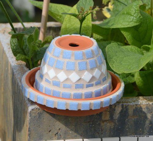 aschenbecher blumentopf blau wei 8 cm hoch kreativ geschenke pinterest aschenbecher. Black Bedroom Furniture Sets. Home Design Ideas