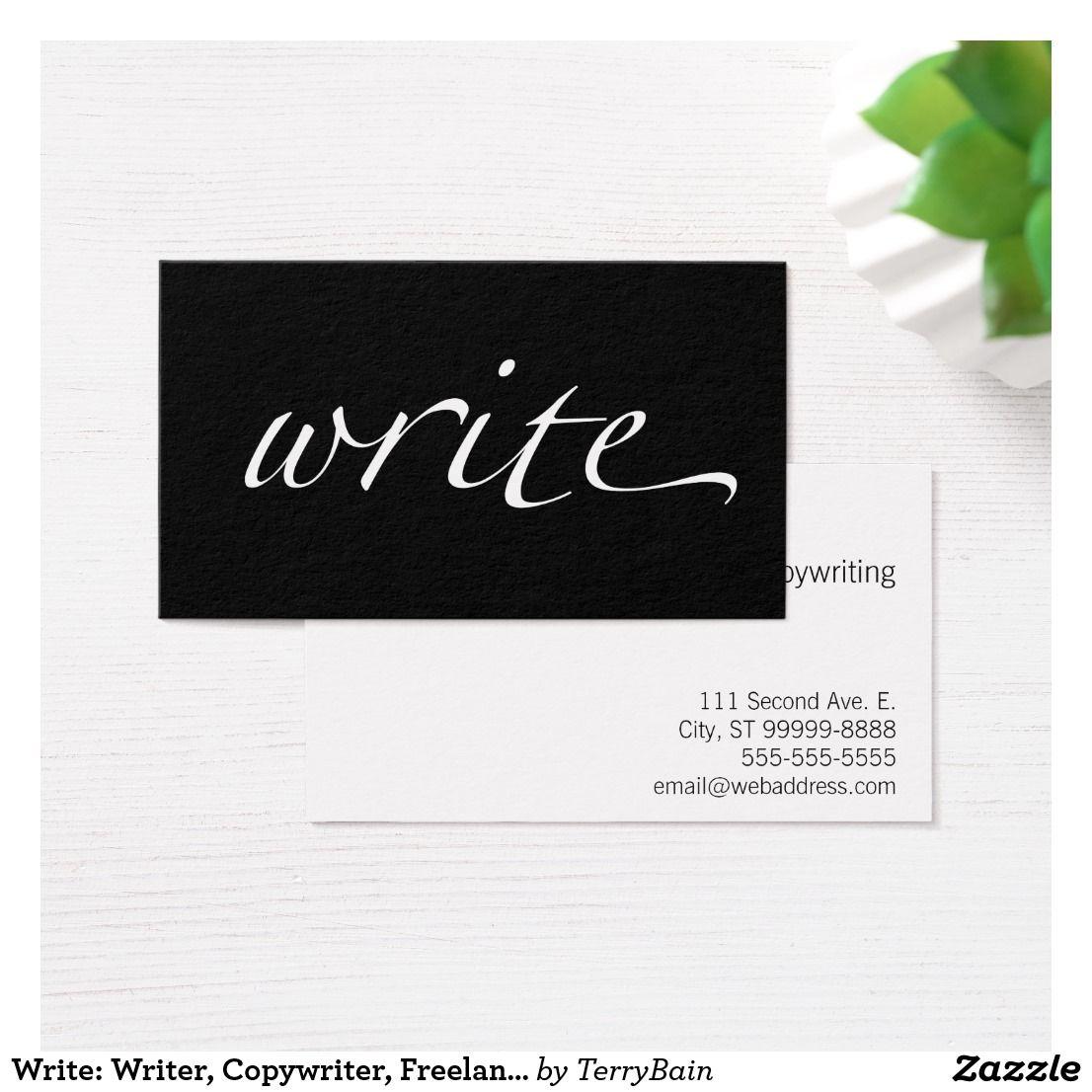 Write: Writer, Copywriter, Freelance Writer Business Card