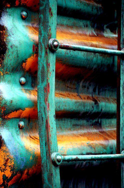 Copper Oxidation Patina Love Rouille Peinture Ecaillee Et Photographie Texture
