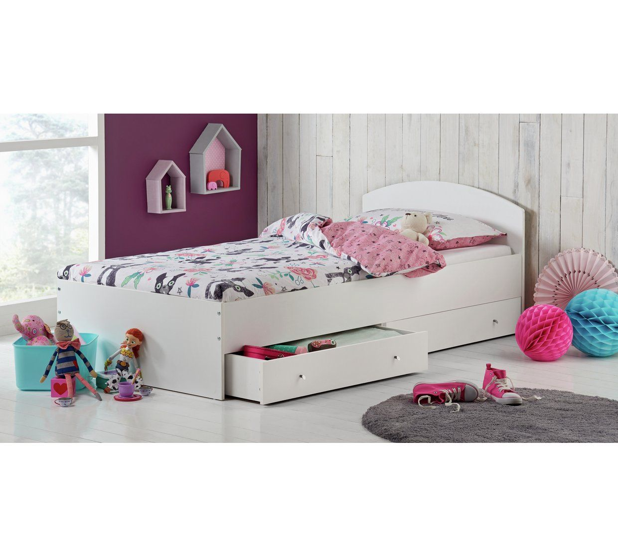 Buy Home Kids Malibu Single Bed Frame With Mattress White At Argos Co Uk Your Online Shop For Children Bed