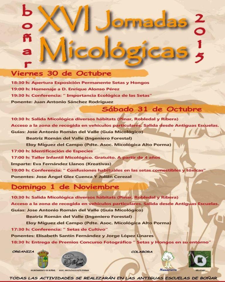 Desde este viernes hasta el domingo 1 de noviembre, XVI Jornadas Micológicas en Boñar