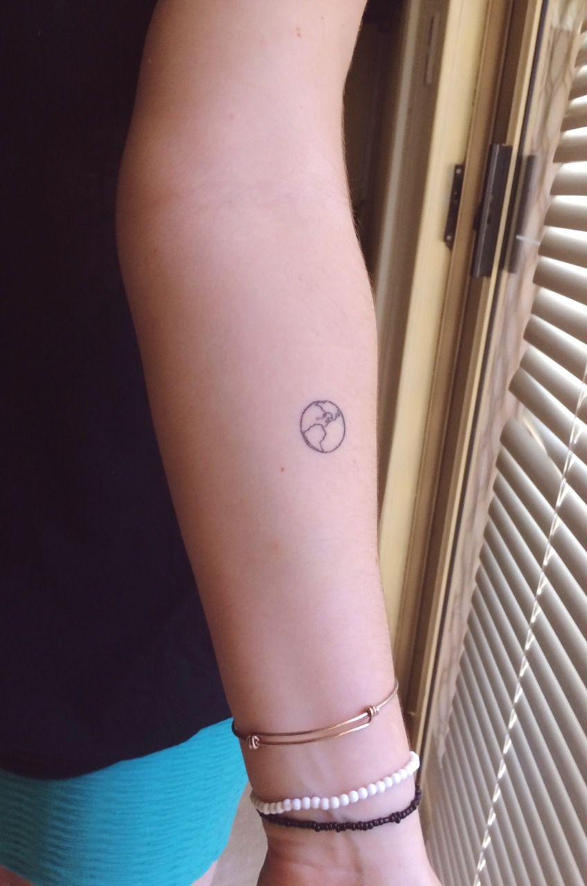 Small Earth Tattoo Earth Tattoo Planet Tattoos Word Tattoos