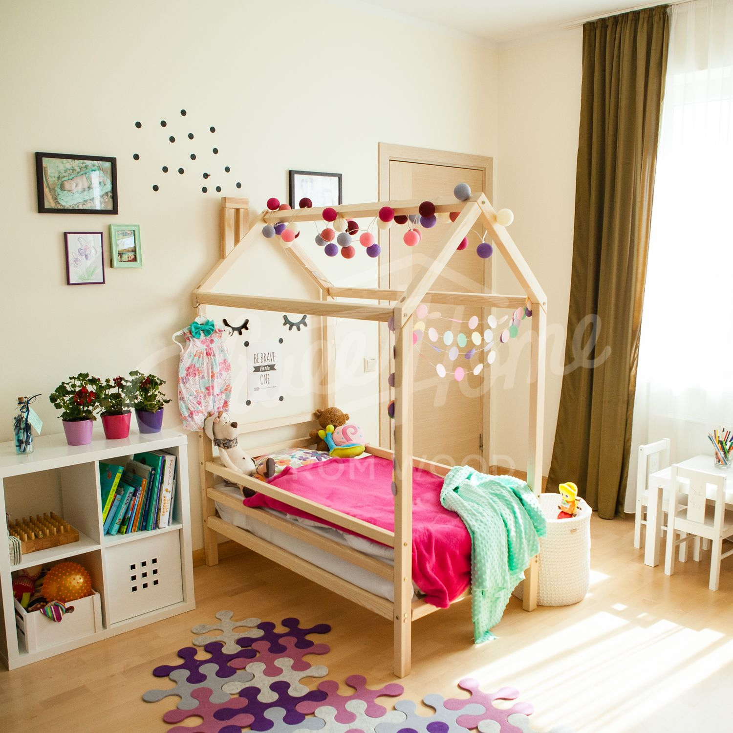 Girls Room, Wood Bed, Bed House, House Bed, Children Bed, Toddler