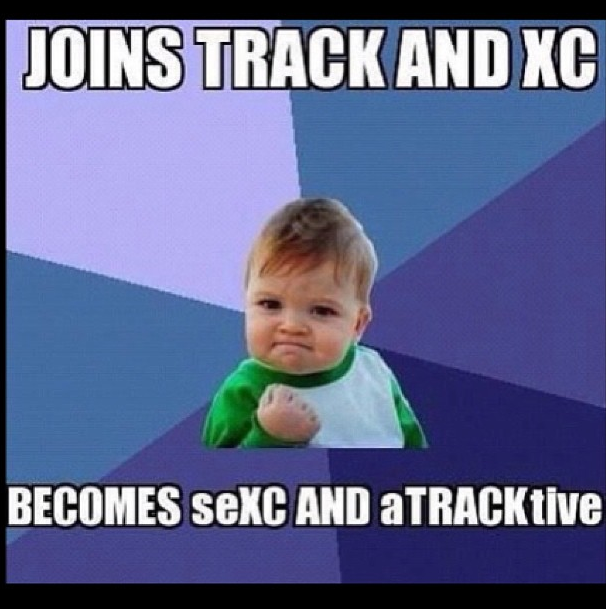 Track And Cross Country Recovery Humor Good Friday Meme Success Kid