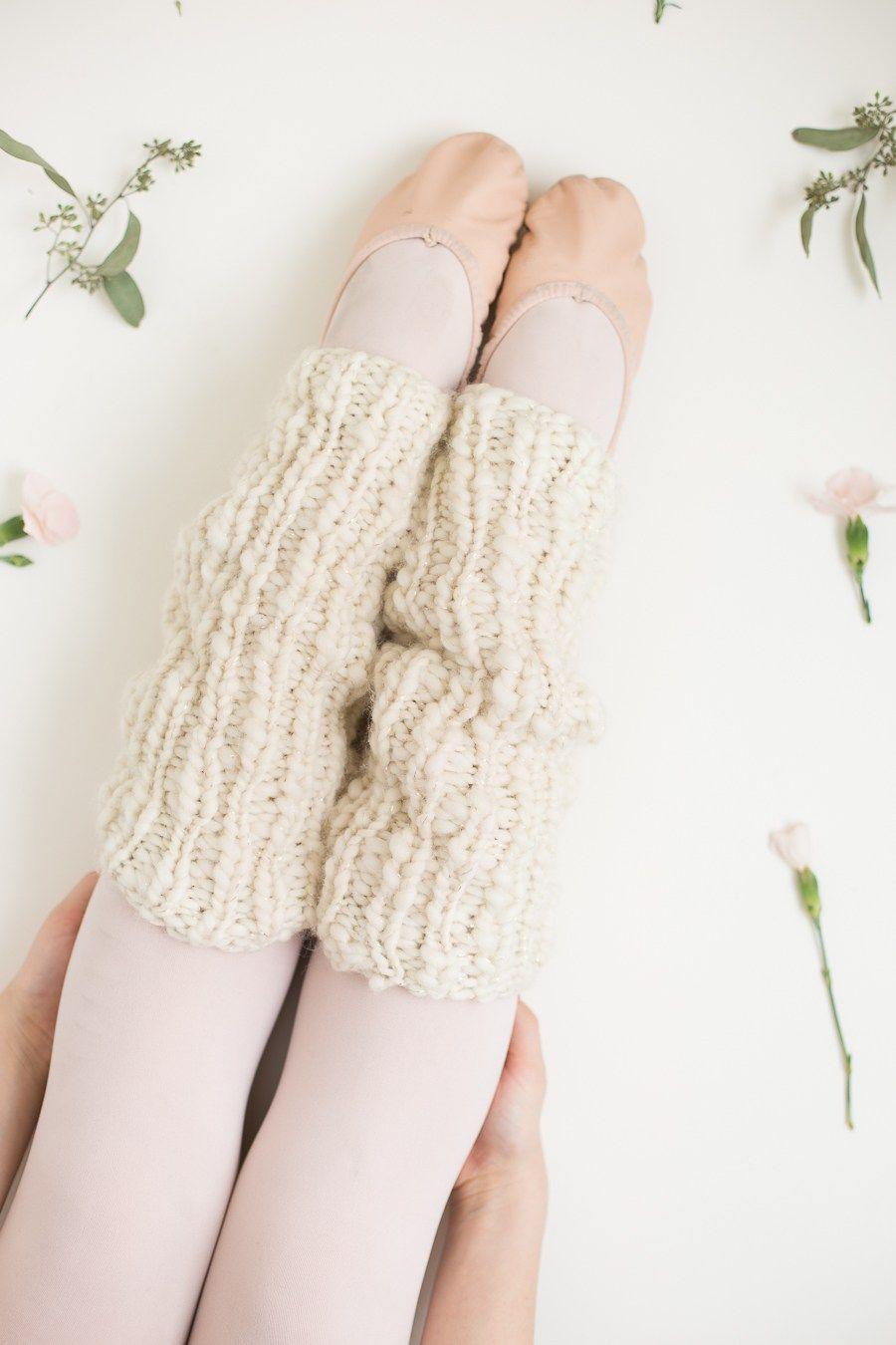 One Skein Knit Leg Warmers Pattern for Beginners