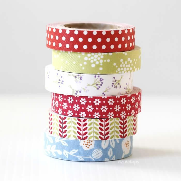 Spring Flowers Decorative Tape FABRIC Tape #fabrictape