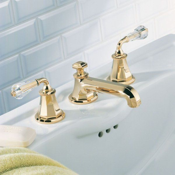 Gorgeous classic bath faucet with gold crystal levers / Traditional ...