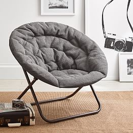 Charcoal Tweed Hang A Round Chair Ikea Chair Round