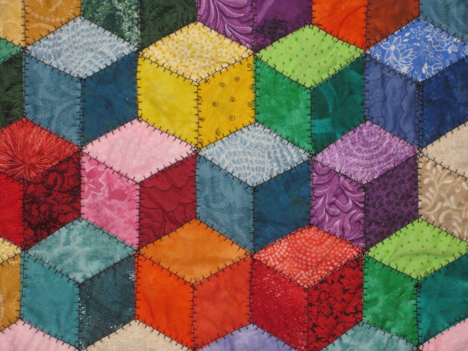 Quilting Patterns Tumbling Blocks :