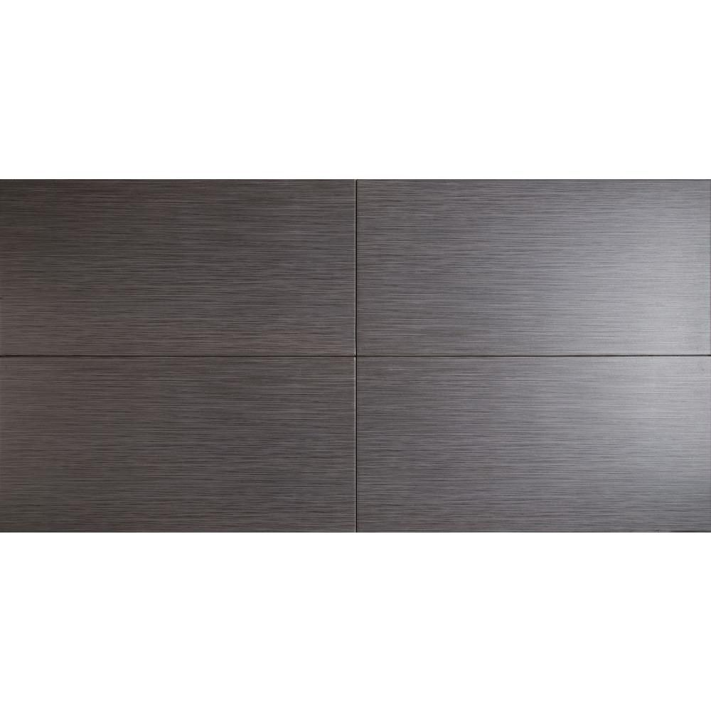 Ms International Cappuccino 12 In X 12 In Polished: MSI Metro Gris 12 In. X 24 In. Glazed Porcelain Floor And