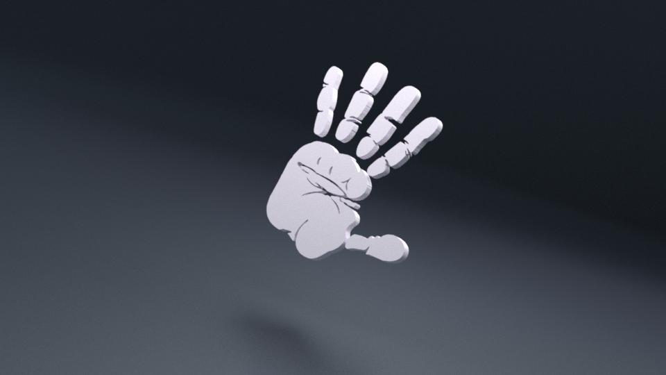 Hand Print 3d Print Artwork Hand Print