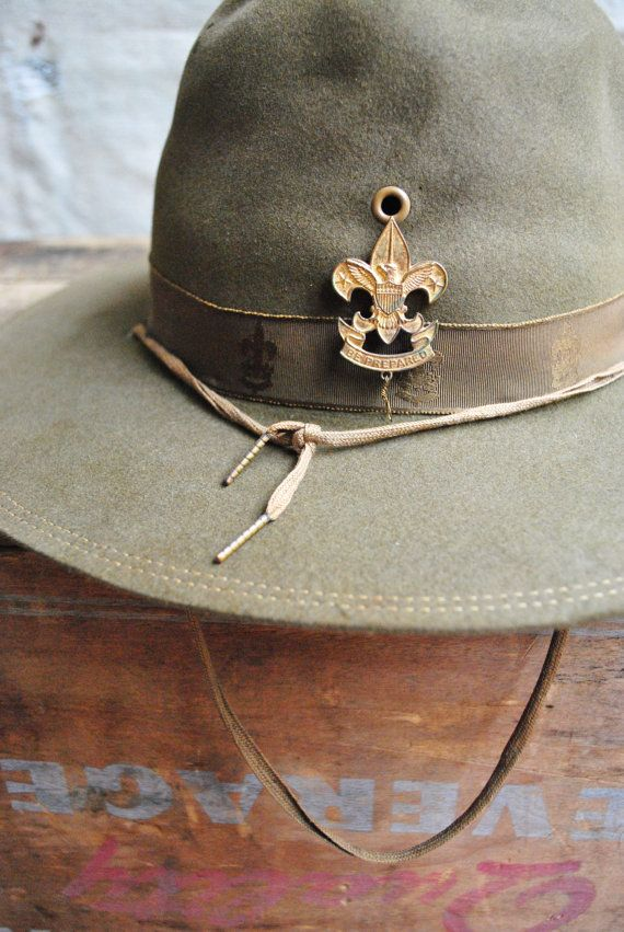 bfcdc330b08 vintage c. 1940s Boy Scouts of America Official Hat by MouseTrapVintage on  Etsy