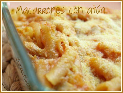 Macarrones Con Atún Recetas Thermomix Recetas Fáciles Macarrones Recetas De Cocina