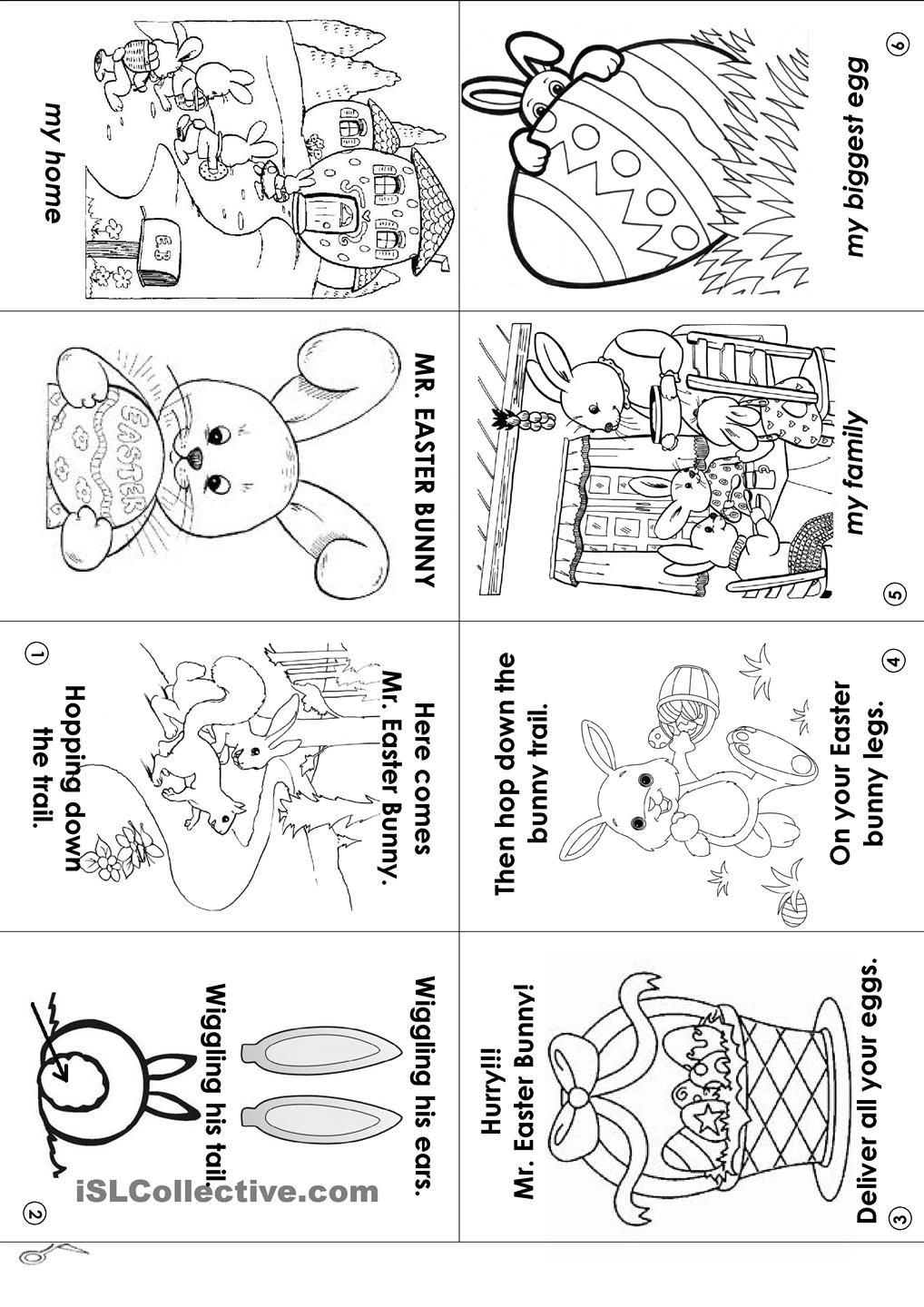 Easter Bunny Chant In A Mini Book Mini Books Easter Worksheets Fire Emblem Fates [ 1440 x 1018 Pixel ]